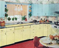 Yellow And Blue Kitchen Farm Girl Pink Vintage Kitchens Turquoise And Yellow