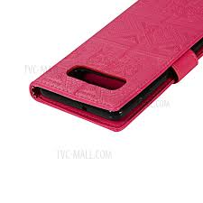 imprint elephant leather wallet case for samsung galaxy s10 plus rose 6