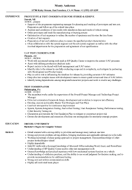 Test Coordinator Resume Samples Velvet Jobs