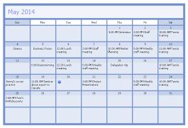 Business Calendar Example Business Calendar Blank