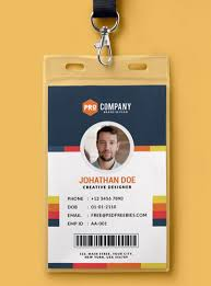 Company Id Card Template 10 Free Employee Id Card Design Templates Mockups