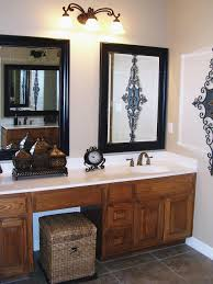 bathroom mirror frame. Diy Bathroom Mirror Frame Ideas Wall Brushed Nickel Sconces Glossy Cabinet Above Simple Navity Luxury Triangle Corner Trough Bathtub Design