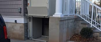 commercial wheelchair lift. Bruno Commercial Wheelchair Lift Installed For A Westfield Insurance Agency