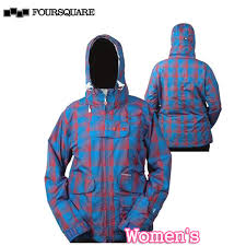 Foursquare Peterson Regatta Fade To Plaid Four Squareware Jacket Snowboarding Womens Ladys