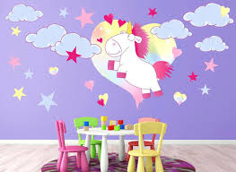 unicorn wall decals plus enchanted unicorn giant wall decals ndr