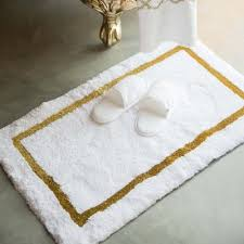 abyss habidecor karat white gold or silver bath rug