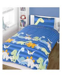 dinosaurs double duvet cover and pillowcase set blue