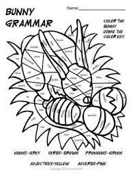 fda875e1785146a653b2c429480d52de grammar bunny noun, verb, adj, pronoun, adv coloring activity on free printable possessive nouns worksheets