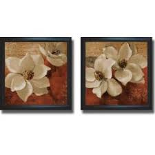 li artist lanie loreth li li title white magnolias i and ii li li product type framed canvas art set li  on white magnolia wall art with lanie loreth midday magnolias i and ii framed 2 piece canvas art