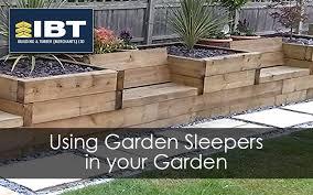 using garden sleepers in the garden