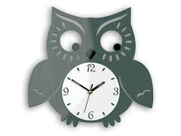 wall clock owl animal clock modern