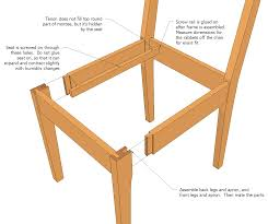 Free Woodworking Furniture Plans Wood Kitchen Chairs You Can Also Download The Sketchup Model For