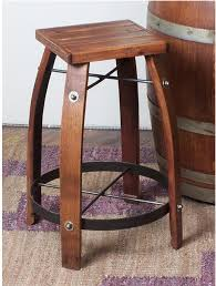Wood barrel furniture Glass Top Day Designs 26 Inch Stave Stool With Wood Top Wine Barrel Furniture For Sale Recycled And Reclaimed