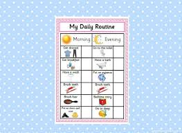 Printable Daily Routine Chart Pink Reward Chart Morning Routine Evening Routine Behaviour Management Sen Autism Instant Download