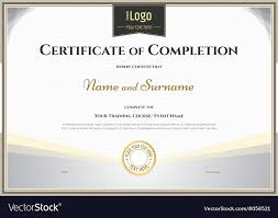 Certificate Of Completeion Certificate Of Completion Template Silver Theme