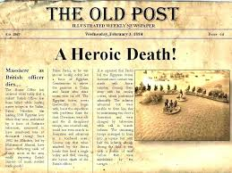 Old Fashion Newspaper Template Newspaper Template Download