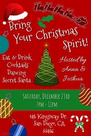 Template For Christmas Party Invitation Christmas Party Invitation Template Postermywall