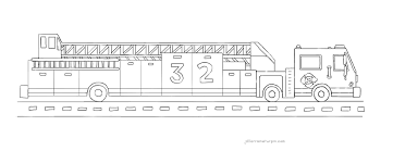 Small Picture Fire Truck Coloring Page Ladder Truck 32 My Very Own Fire Truck