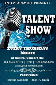 50 Elegant Talent Show Flyers Speak2net Com