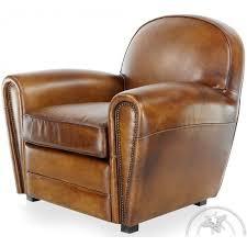 medium brown leather club armchair havane