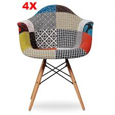 set of 4 dining chairs. Chair - Set Of 4 Dining -Fabric- MS0029FNPR Chairs