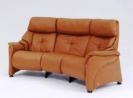 image of semi round leather sofa