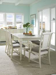 broyhill dining room furniture l shaped black leather upholstered banquette bench white ball shape pendant light retangle unfinish teak wood table