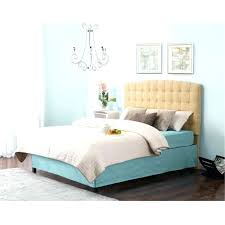 White Tufted Queen Bed Headboard Twin Frame Tall Padded Black Faux ...