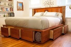 king platform bed with drawers frame