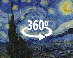 starry night in 360 degrees