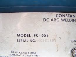 miller dc arc welder cv phase amps fc e joseph fazzio miller dc arc welder cv 3 phase 650 amps fc 65e