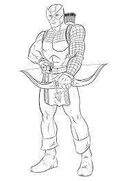 Small Picture Coloring pages Hawkeye printable for kids adults free