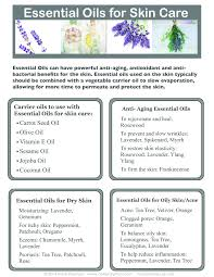 Essential Oils Skincare Chart Google Search Essential