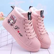 Giày Lười Lót Nhung cotton Dày Dặn Thời Trang Mùa Đông Cho Bé Gái 8-9 Tuổi  10 11 tại Nước ngoài