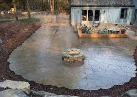 what exactly are stamped concrete patios tearing cost to put in a patio