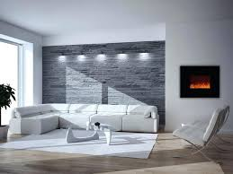 decoration small wall mounted electric fireplace placement ideas brick room