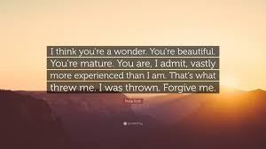 I Think You Are Beautiful Quotes