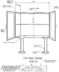 fire hose storage cabinet