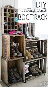DIY Crate Boot and Shoe Rack - 29 #Vintage Storage #Ideas to
