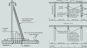 steel reinforcement details of the totally prefabricated counterfort retaining wall system note l