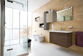 Bathroom decor, Inviting Modern Bathroom Interior Design With Brown  Furniture Modern Bathroom Designs Bathroom Designs ...
