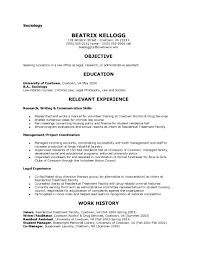Sociology Resume Examples sociology resumes Enderrealtyparkco 1