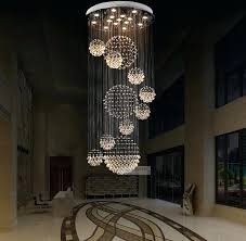 various sizes fit modern spiral sphere crystal chandelier with raindrop decorations 5 saint mossi light