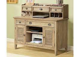 coventry weathered driftwood credenza desk w hutch riverside