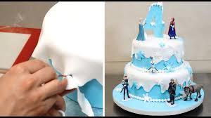 How To Make A Frozen Disney Cake By Cakesstepbystep Youtube