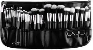 msq 29pcs makeup brush set kit cosmetic sable holder case bag black