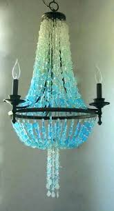 sea glass light lighting best chandelier ideas on with regard to incredible fixture blue pendant