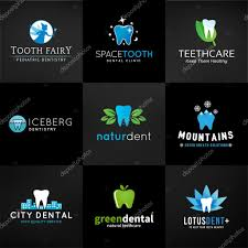dental logos images set of dental logos vector tooth designs teeth clinic template