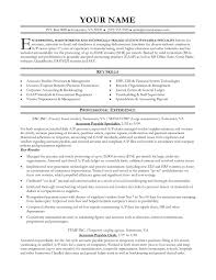 Reference Of Accounts Payable And Receivable Resume Sample Simple