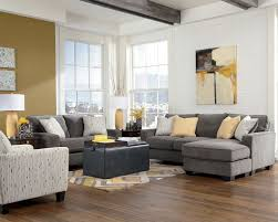 Yellow Chairs Living Room Living Room Gray Recliners White Shelves Brown Chairs Gray Sofa